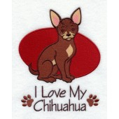 Borduurapplicatie Chihuahua EL001 - rechts kijkend