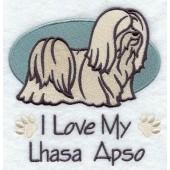 Borduurapplicatie Lhasa Apso EL001 - rechts kijkend