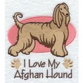 Borduurapplicatie Afghaanse Windhond EL001 - rechts kijkend