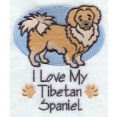 Borduurapplicatie Tibetaanse Spaniel EL001 - rechts kijkend