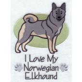Borduurapplicatie Noorse Elandhond - Grijs EL001 - rechts kijkend