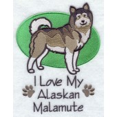 Borduurapplicatie Alaska Malamute EL001 - rechts kijkend