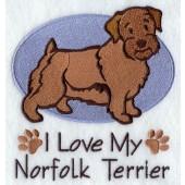 Borduurapplicatie Norfolk Terrier EL001 - rechts kijkend