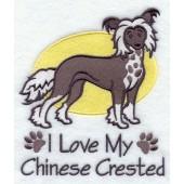 Borduurapplicatie Chinese Naakthond EL001 - rechts kijkend