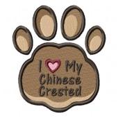 Borduurapplicatie Chinese Naakthond EL002