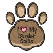 Borduurapplicatie Border Collie EL002