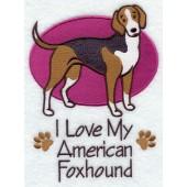Borduurapplicatie American Foxhound EL001 - rechts kijkend