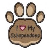 Borduurapplicatie Nederlandse Schapendoes EL002