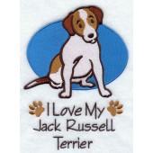 Borduurapplicatie Jack Russell Terrier EL001 - rechts kijkend