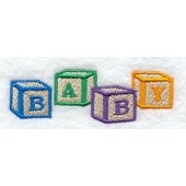 Borduurapplicatie Baby Blocks