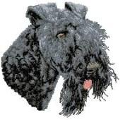 Borduurapplicatie Kerry Blue Terrier EMB001 - rechts kijkend
