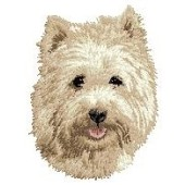 Borduurapplicatie Cairn Terrier EMB001 - variant 1