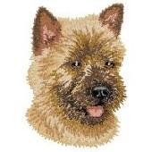 Borduurapplicatie Cairn Terrier EMB004 - kleurenschema