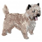 Borduurapplicatie Cairn Terrier EMB006 - variant 1