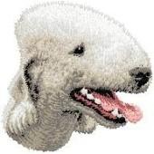 Borduurapplicatie Bedlington Terrier EMB001 - rechts kijkend