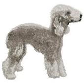 Borduurapplicatie Bedlington Terrier EMB002 - rechts kijkend