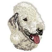 Borduurapplicatie Bedlington Terrier EMB003 - rechts kijkend