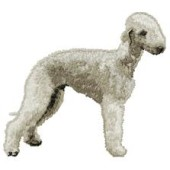 Borduurapplicatie Bedlington Terrier EMB004 - rechts kijkend