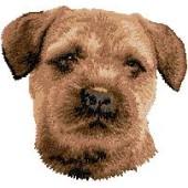 Borduurapplicatie Border Terrier EMB001 - rechts kijkend