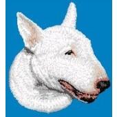 Borduurapplicatie Bull Terrier EMB001 - rechts kijkend