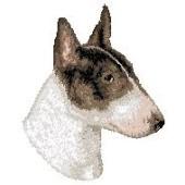 Borduurapplicatie Bull Terrier EMB002 - rechts kijkend