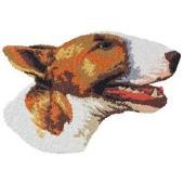 Borduurapplicatie Bull Terrier EMB003 - rechts kijkend