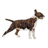 Borduurapplicatie Bull Terrier EMB004 - rechts kijkend