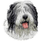 Borduurapplicatie Bobtail / Old English Sheepdog EMB001 - variant 1