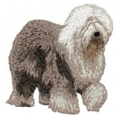 Borduurapplicatie Bobtail / Old English Sheepdog EMB003 - variant 1