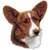 Borduurapplicatie Welsh Corgi Cardigan EMB001 - variant 1