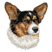 Borduurapplicatie Welsh Corgi Cardigan EMB002 - variant 1