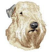 Borduurapplicatie Irish Soft Coated Wheaten Terrier EMB001-2 - rechts kijkend