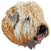 Borduurapplicatie Irish Soft Coated Wheaten Terrier EMB002 - rechts kijkend
