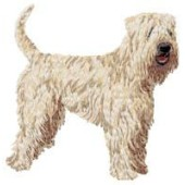 Borduurapplicatie Irish Soft Coated Wheaten Terrier EMB003 - rechts kijkend