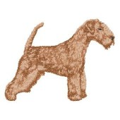 Borduurapplicatie Lakeland Terrier EMB001 - rechts kijkend