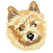 Borduurapplicatie Norwich Terrier EMB001 - rechts kijkend