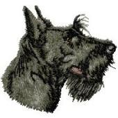 Borduurapplicatie Schotse Terrier EMB001 - rechts kijkend