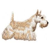 Borduurapplicatie Schotse Terrier EMB003 - rechts kijkend