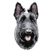 Borduurapplicatie Schotse Terrier EMB004 - rechts kijkend