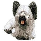 Borduurapplicatie Skye Terrier EMB001 - rechts kijkend