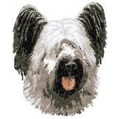 Borduurapplicatie Skye Terrier EMB002 - rechts kijkend