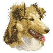 Borduurapplicatie Shetland Sheepdog EMB001 - rechts kijkend