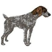 Borduurapplicatie Duitse Staande Hond - Draadhaar EMB001 - rechts kijkend