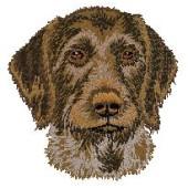 Borduurapplicatie Duitse Staande Hond - Draadhaar EMB002 - rechts kijkend