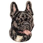 Borduurapplicatie Franse Bulldog EMB004 - rechts kijkend