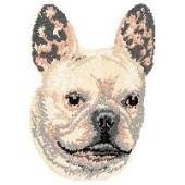 Borduurapplicatie Franse Bulldog EMB005 - rechts kijkend