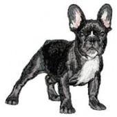 Borduurapplicatie Franse Bulldog EMB008 - rechts kijkend