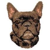 Borduurapplicatie Franse Bulldog EMB001 - rechts kijkend
