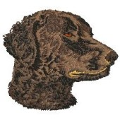 Borduurapplicatie Curly Coated Retriever EMB002 - rechts kijkend