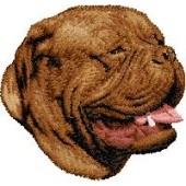 Borduurapplicatie Bordeaux Dog EMB001 - rechts kijkend